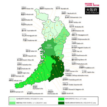 English-Osaka-Prefecture-Map